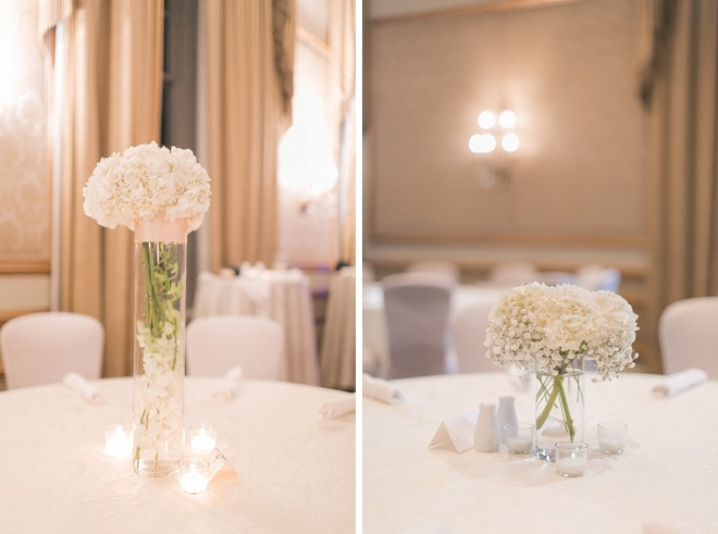 Gorgeous centerpieces at this New Orleans wedding!