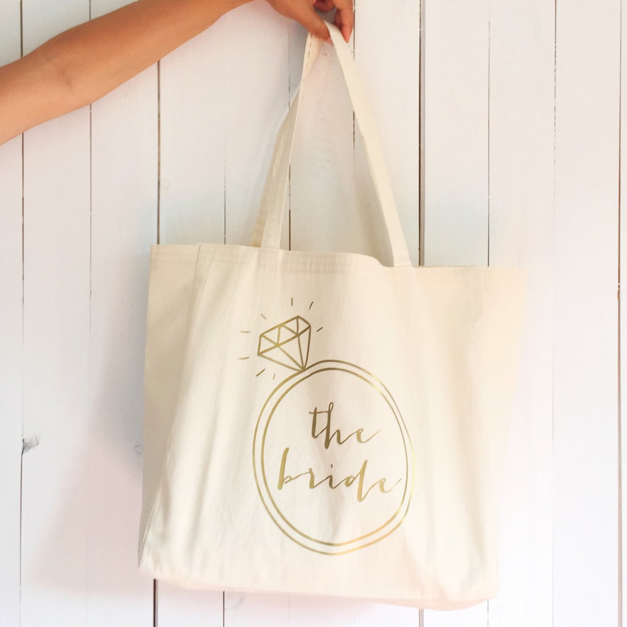 Adorable bride tote bag, awesome bride-to-be gift!