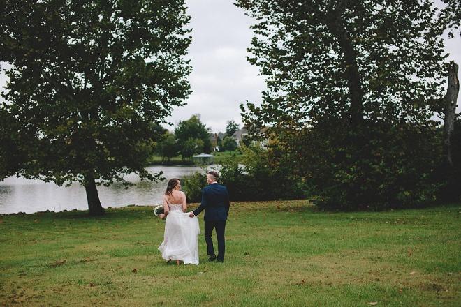 We're loving this gorgeous backyard DIY wedding!