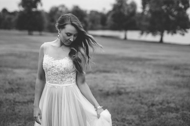 We love this gorgeous bridal shot at this backyard DIY wedding!