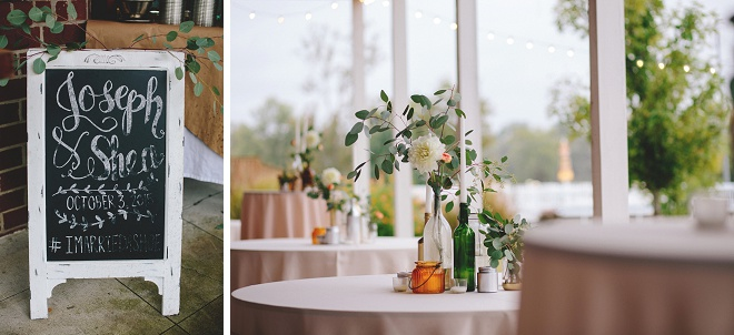 We're loving this gorgeous backyard cocktail party wedding!