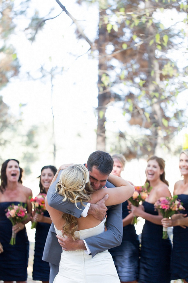 Such a darling first look kiss! Swoon!
