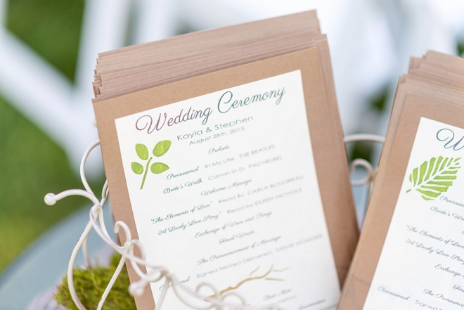 Loving these hand painted wedding programs!