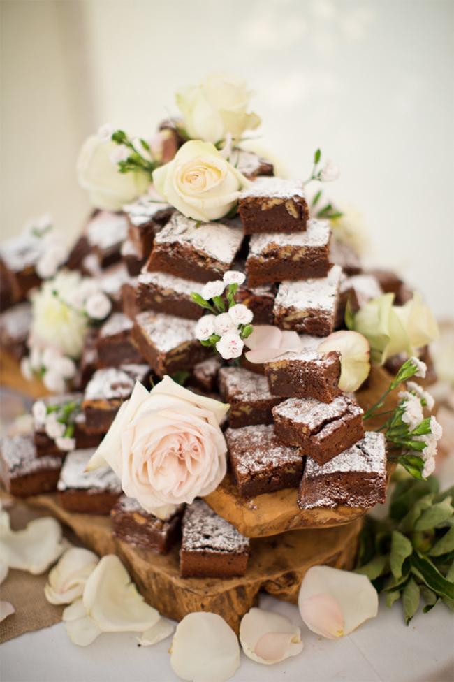 Wedding Brownie Tower