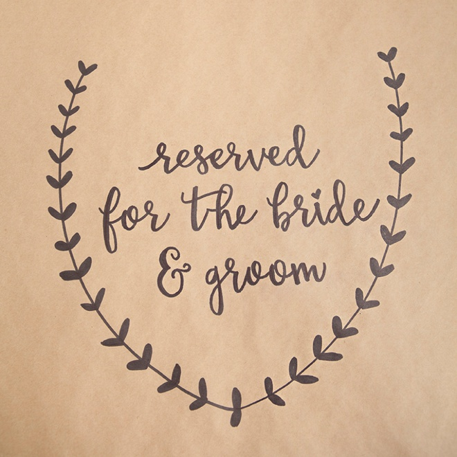 Awesome DIY idea for using a Sharpie on kraft paper for wedding table signage and decor!