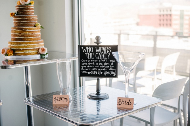 How fun is this cake bet idea? We're loving it!
