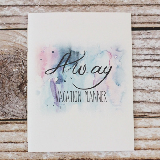 Vacation Planner by Wistfully Modern