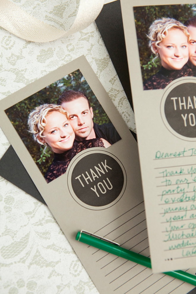 thank you cards with photograph