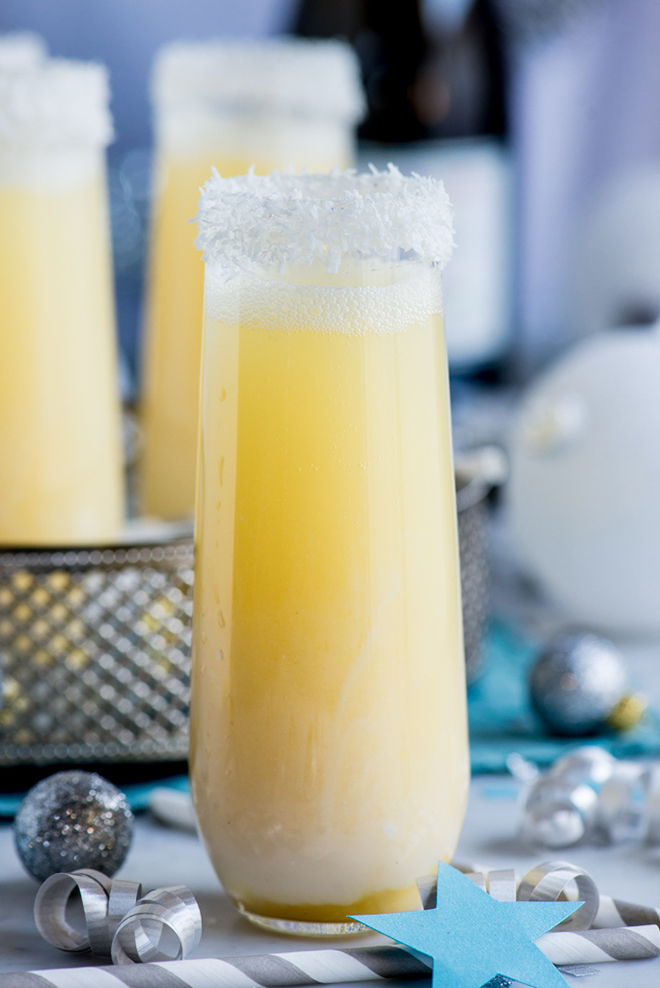 Awesome Pineapple Coconut Champagne Cocktail Recipe