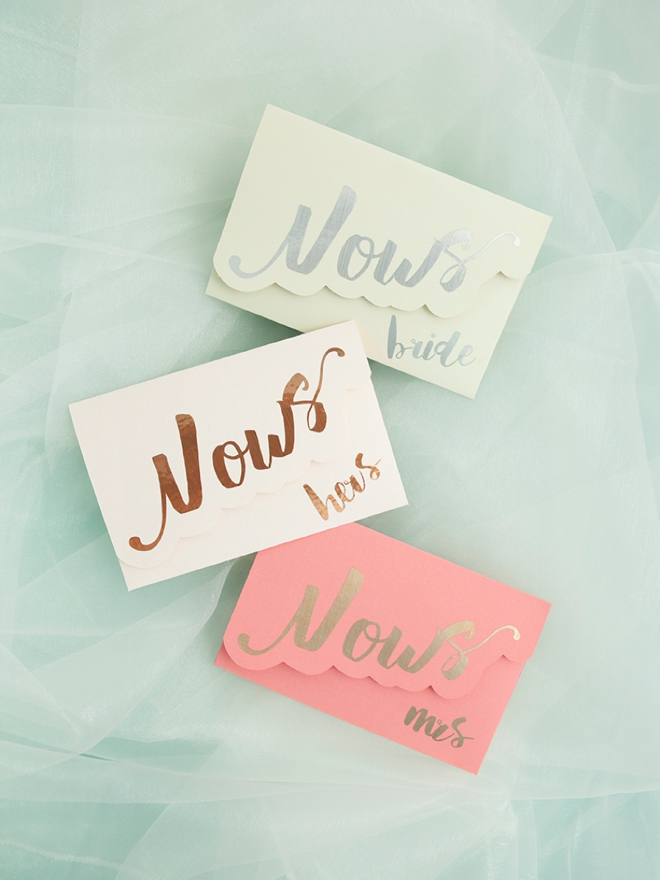 Darling DIY Idea For Custom Wedding Vow Notebooks