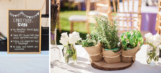 Swooning over these darling centerpiece details!