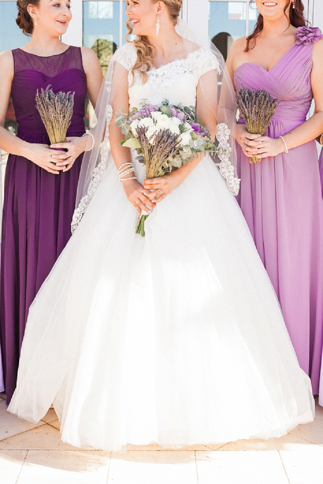 LOVING this fun Bride and Bridesmaid shot before the ceremony!