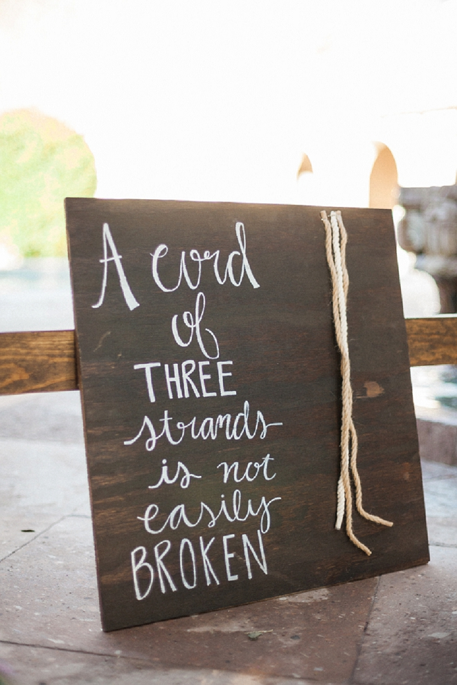 We love this darling wedding ceremony sign!