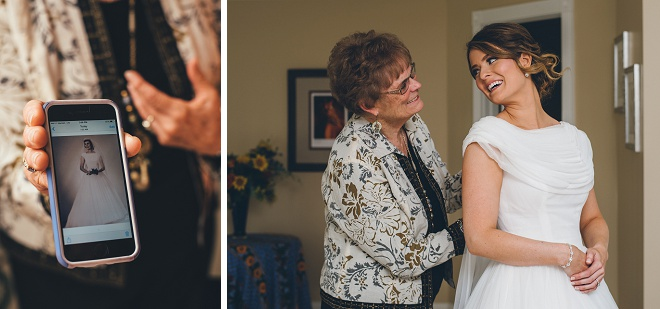 How sweet is this photo and throwback photo of the Bride and her Grandmother in the same dress?! Swooning!