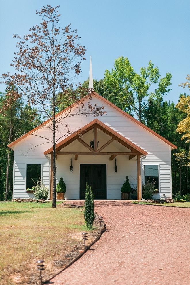 Loving the quaint church for this gorgeous DIY wedding ceremony!
