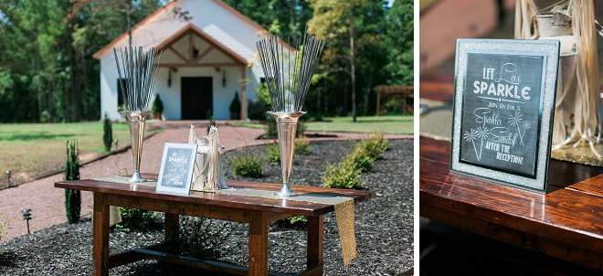 Loving the sparkler exit table and all of the darling details!
