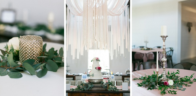 We're swooning over this boho chic wedding reception style! Metallics, greenery and much more!