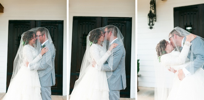 We're swooning over this gorgeous veil shot at this boho wedding!