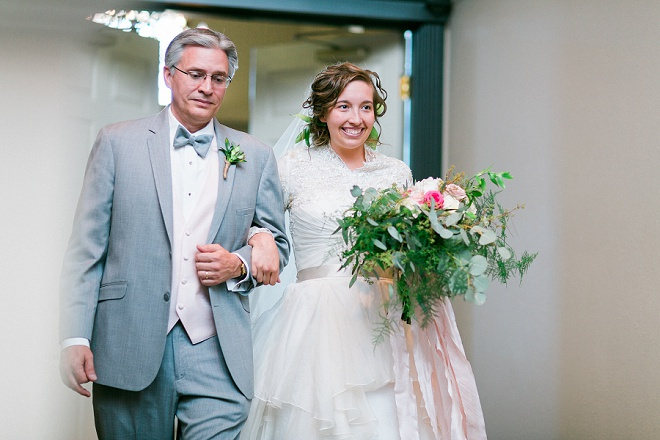Darling moment with the Bride and her Father before the ceremony!