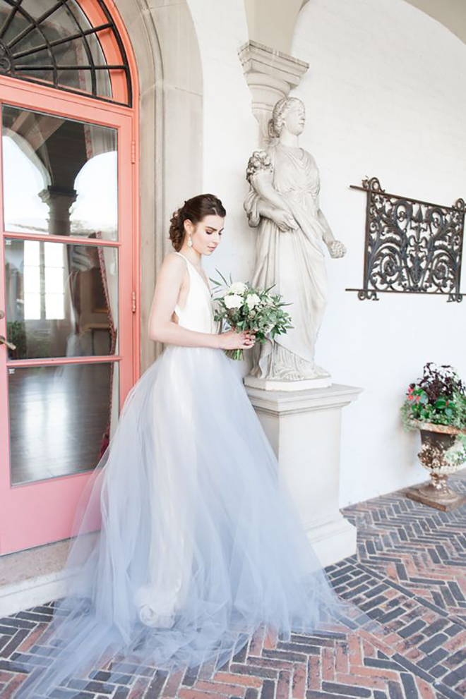 Check out these amazing convertible wedding dresses alyssa kristin colored tulle skirt awesome idea for a convertible wedding dress junglespirit Image collections