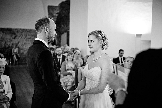 We're swooning over this sweet castle ceremony in the UK!