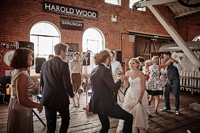 Such a fun rock and roll dance party DIY wedding in the UK!