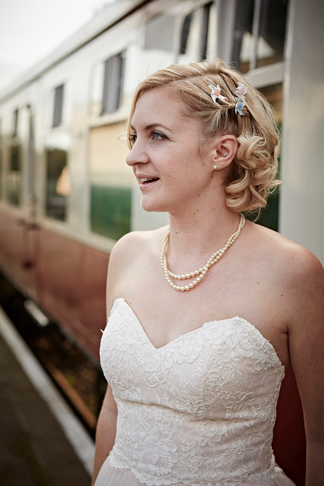 The gorgeous Bride before her Castle wedding ceremony in the UK!