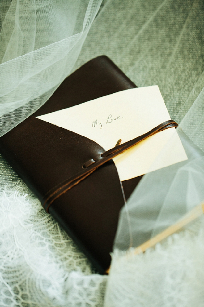 Swooning over this Groom's sweet card to his Bride!