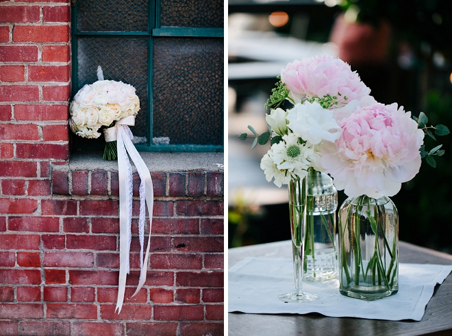 We're loving these gorgeous flowers at this beautiful DIY wedding!