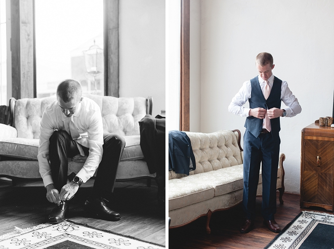 Loving these shots of the Groom getting ready for the big day!