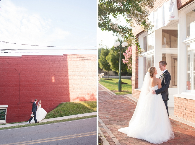 We're loving this darling couple and their sweet loft DIY wedding!
