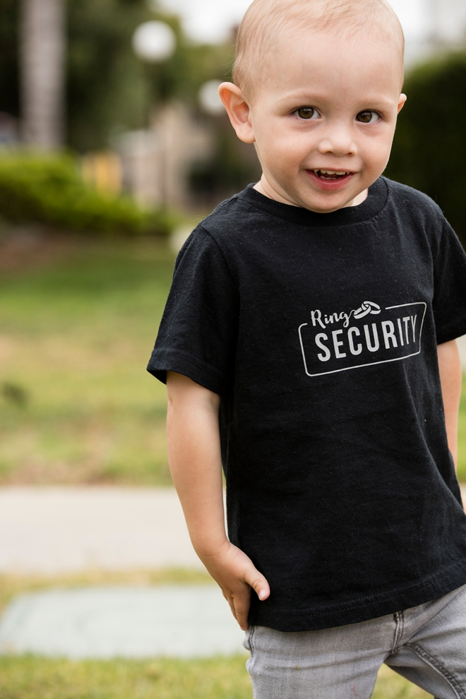 The most darling iron-on Petal Patrol and Ring Security shirts, with free Cricut cut files!