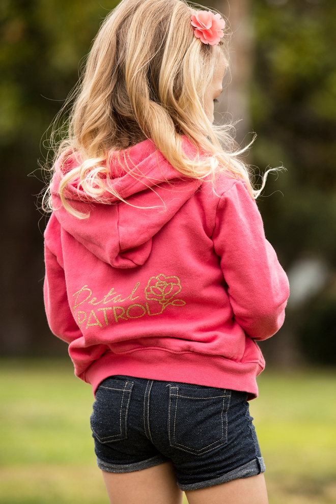 The most darling iron-on Petal Patrol and Ring Security sweatshirts, with free Cricut cut files!