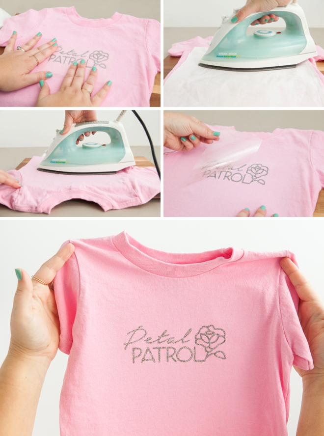 Use our free Cricut cut files to make this darling Petal Patrol shirt!