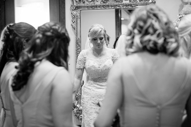 Such a sweet snap of the Bride and her Bridesmaids having a moment before the ceremony.