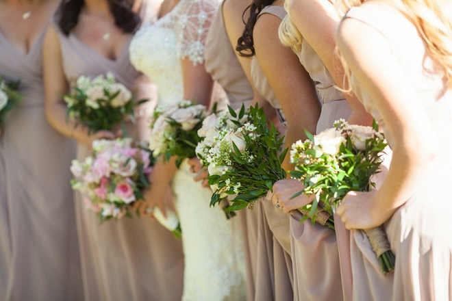 We love this shot of the Bride and Bridesmaid's bouquets! Darling!