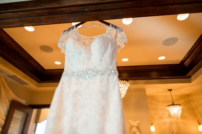 We're loving this Bride's beautiful and classic wedding dress!