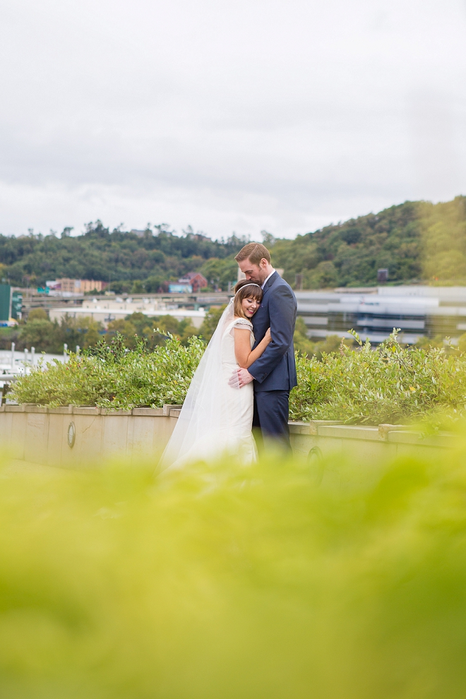 We're swooning over this gorgeous Bride and Groom at this DIY museum wedding!