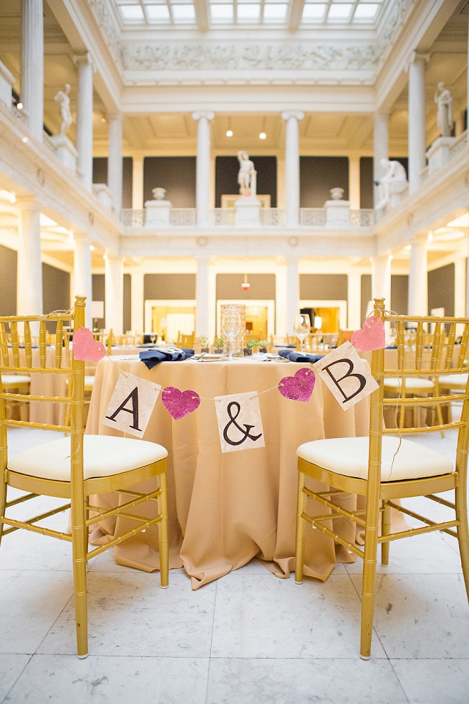 How darling are these monogrammed reception chairs for the new Mr. and Mrs?! Love!
