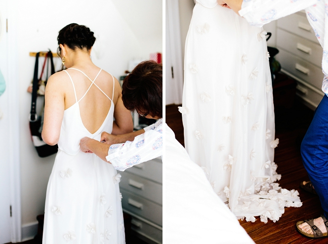 We're in LOVE with this Bride's $50 wedding dress find with customization's!!