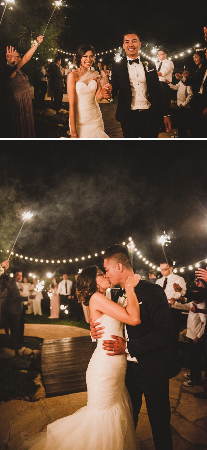 Loving this Mr. and Mrs. and their sparkler exit! So dreamy!