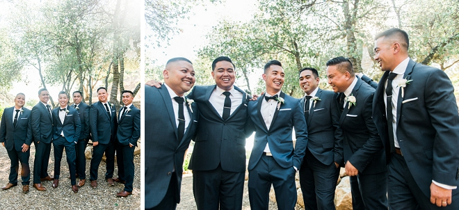 We love this Groom and his Groomsmen getting ready for the big day!