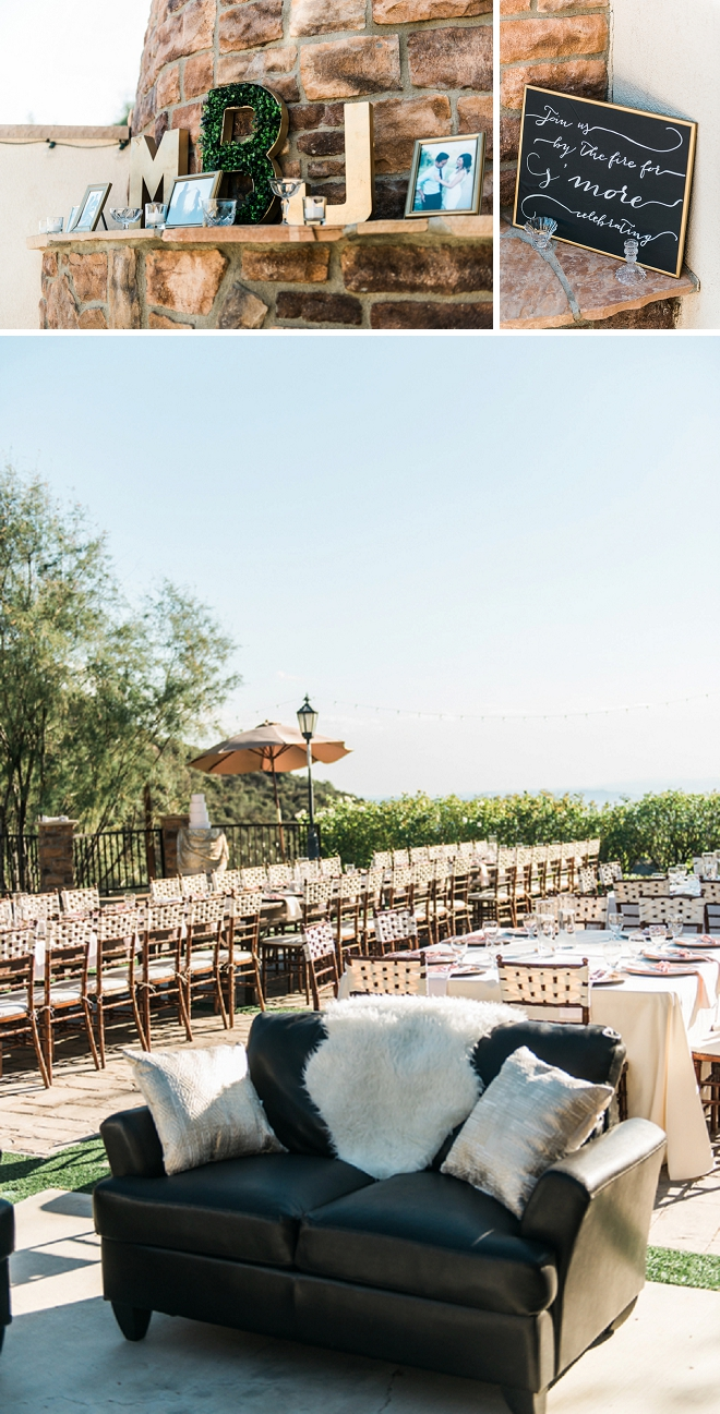 How dreamy is this gorgeous outdoor reception?! We're swooning!!