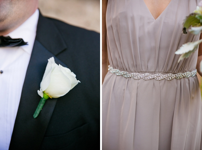 Loving the darling details on the Groom and Bridesmaid's dresses! Swoon!