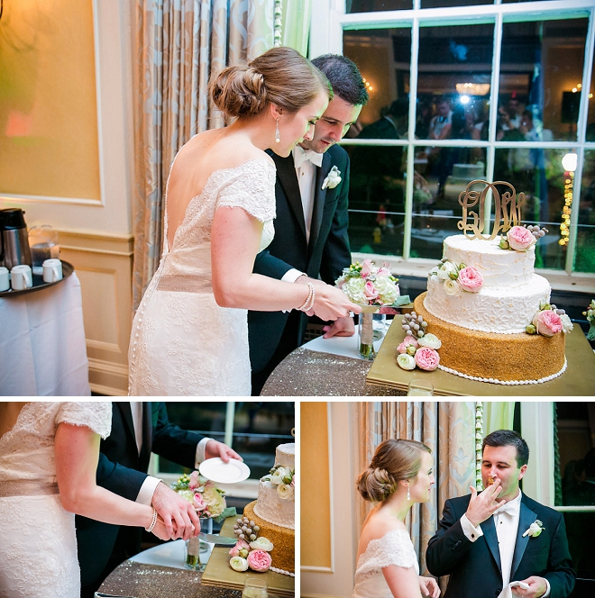 We love this darling Bride and Groom and their cake cutting!