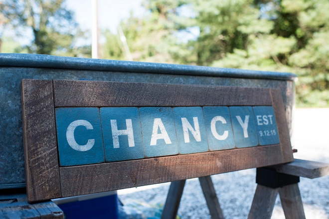 Loving the signage for the new Mr. and Mrs. Chancy!