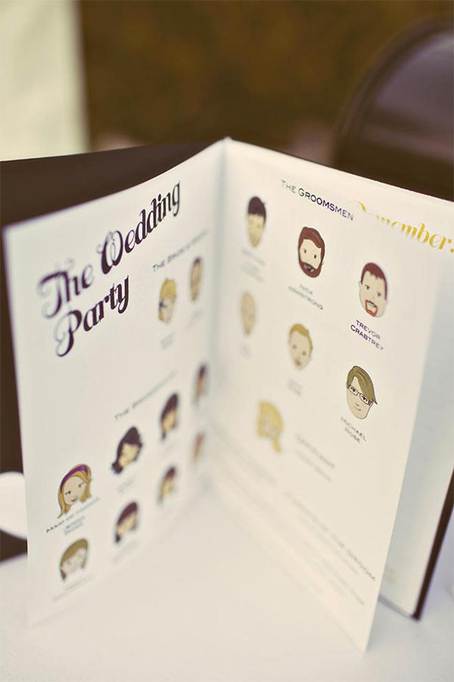 this wedding program booklet is so darn cute!
