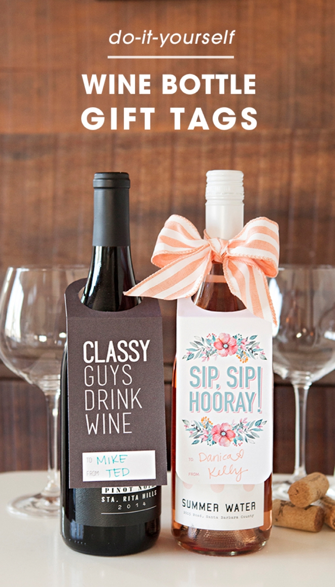 Adorable free printable wine gift tags, just print and cut!