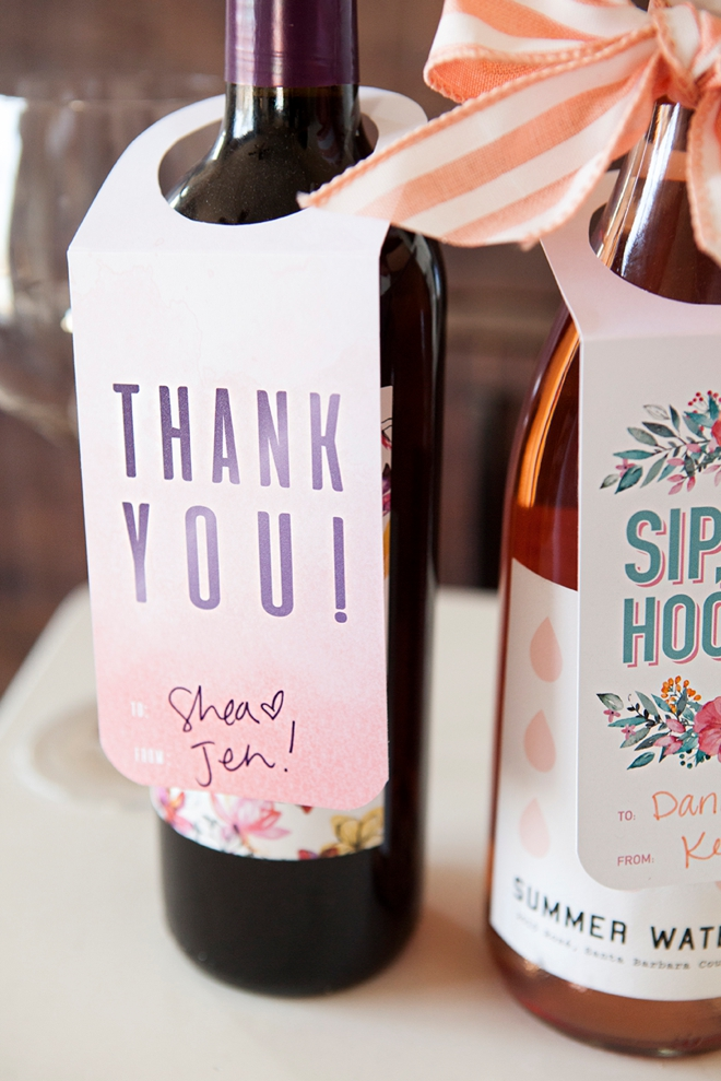 Adorable Free Printable Wine Gift Tags, Just Print And Cut!  Free Wine Bottle Label Templates