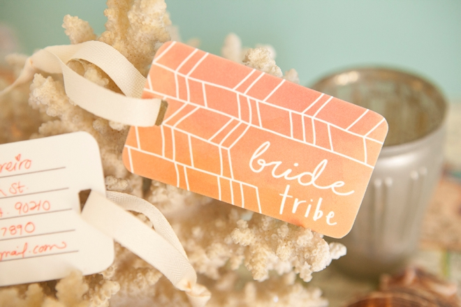 Adorable free printable Bride Tribe, shrinky dink luggage tags!